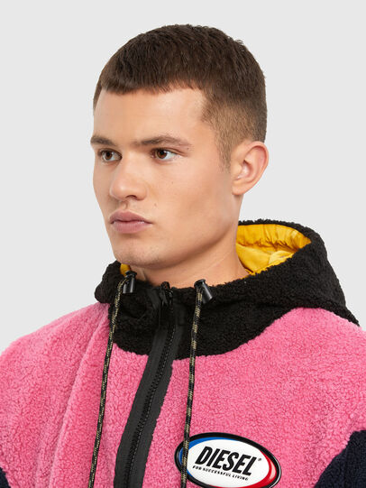 Diesel - W-ETHAN, Blue/Pink - Winter Jackets - Image 3