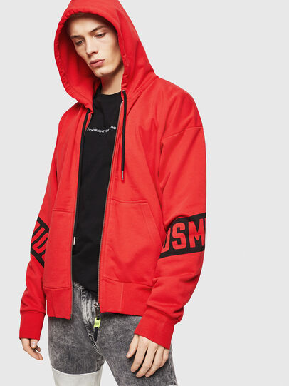 Diesel - S-ALBY-ZIP-A1, Fire Red - Sweaters - Image 1
