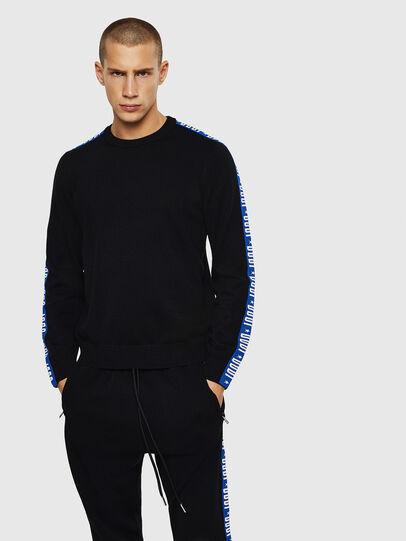 Diesel - K-TRACKY-B, Black/Blue - Knitwear - Image 1