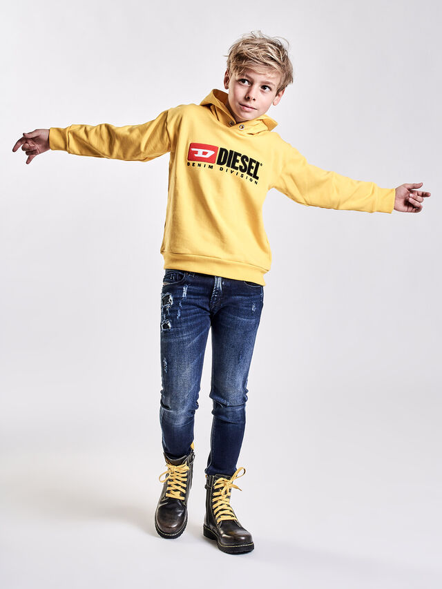 Diesel - SDIVISION OVER, Yellow - Sweaters - Image 3
