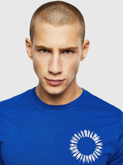 Diesel - T-DIEGO-A12, Brilliant Blue - T-Shirts - Image 4