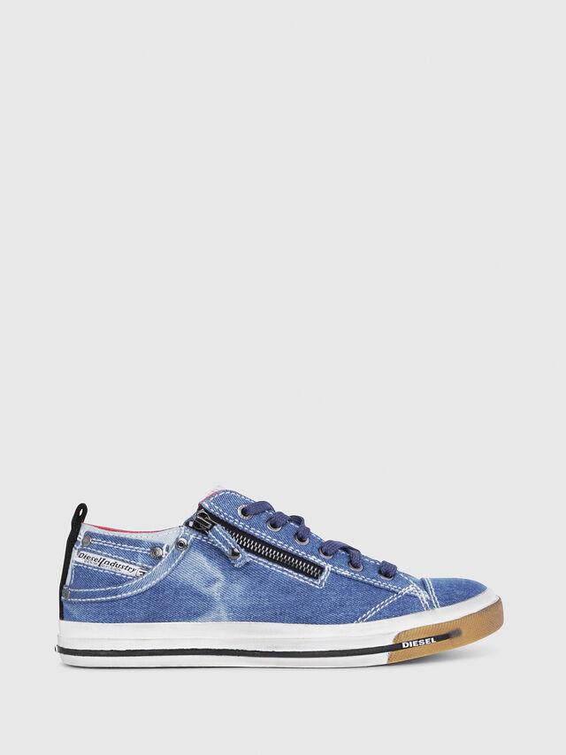 Diesel - EXPO-ZIP LOW W, Blue Jeans - Sneakers - Image 1