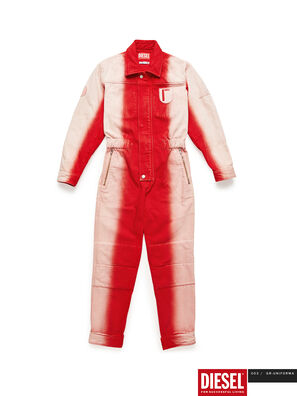 GR02-U301, Red/White - Jumpsuits