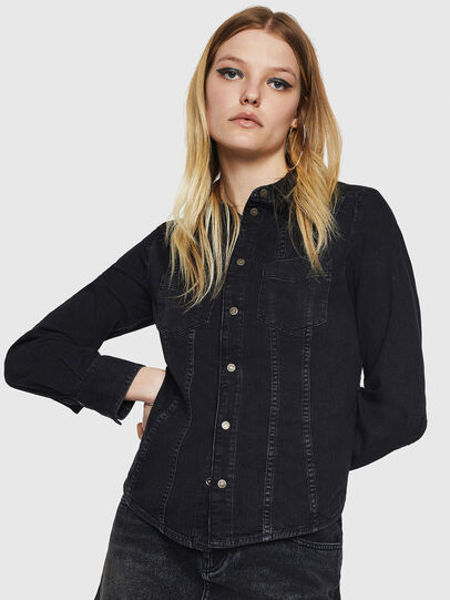 Diesel - DE-FLYP, Black/Dark grey - Denim Shirts - Image 1