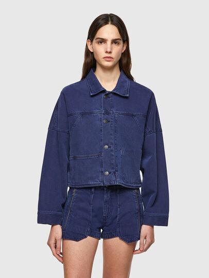 Diesel - DE-JALYN, Blue - Denim Jackets - Image 1