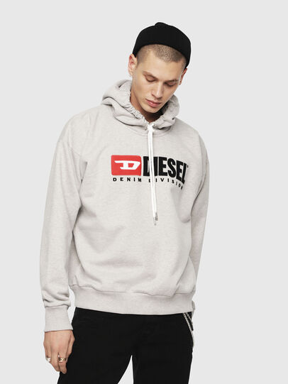 Diesel - S-DIVISION, Light Grey - Sweaters - Image 1