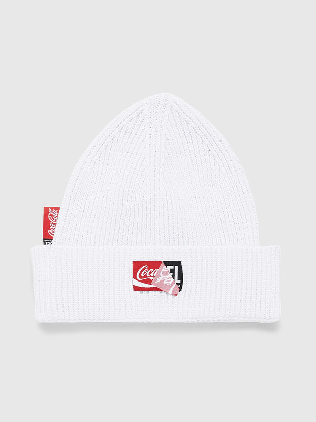 CC-BEANY-COLA, White - Knit caps