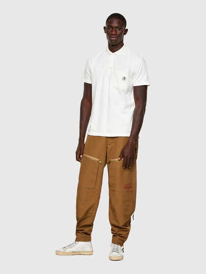 Diesel - T-POLO-WORKY, White - Polos - Image 4