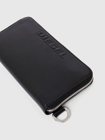 Diesel - 24 ZIP, Black - Zip-Round Wallets - Image 4