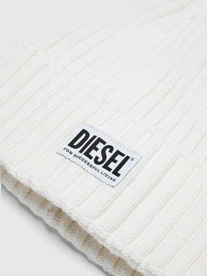 Diesel - K-CODER-E, White - Knit caps - Image 3