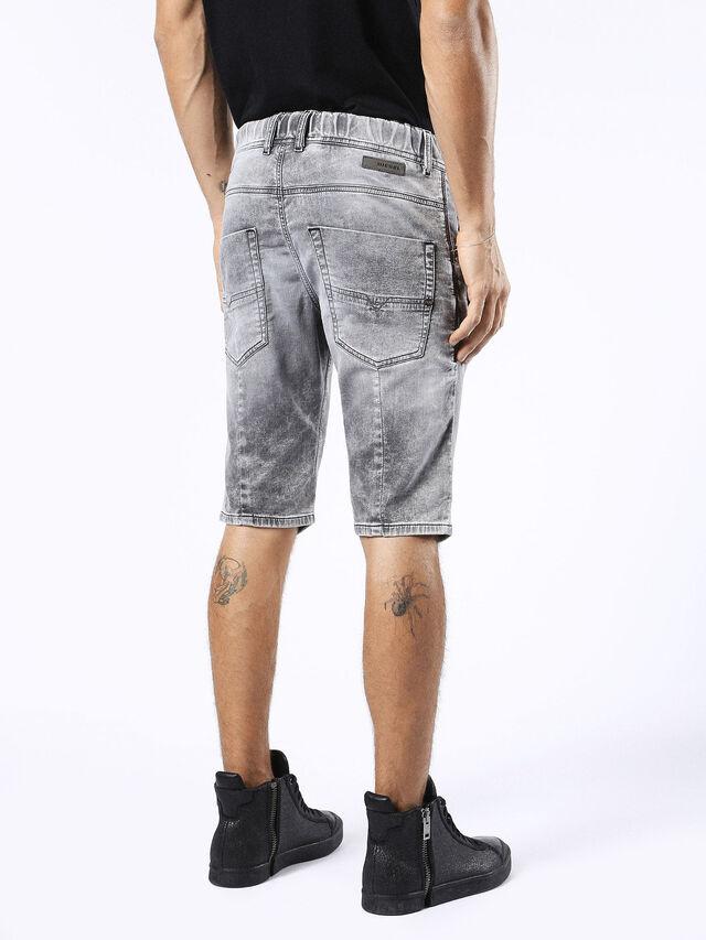 Diesel - KROSHORT JOGGJEANS, Grey Jeans - Shorts - Image 2