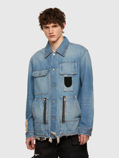 Diesel - D-SERLE, Medium blue - Denim Jackets - Image 1