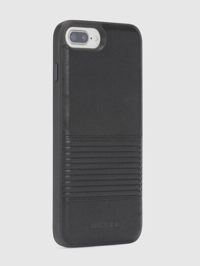 Diesel - BLACK LINED LEATHER IPHONE 8 PLUS/7 PLUS/6s PLUS/6 PLUS CASE,  - Cases - Image 5