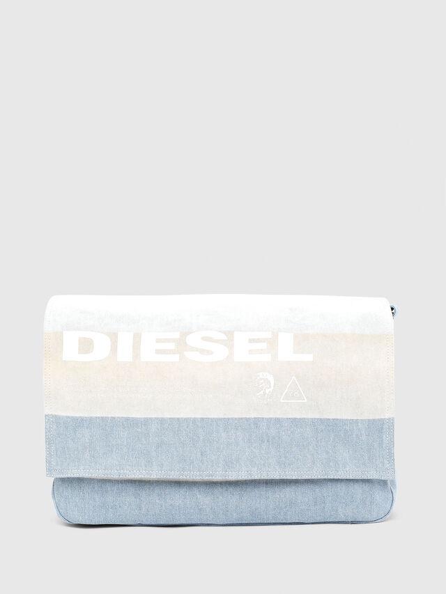 Diesel - D-THISBAG MESSENGER, Blue/White - Crossbody Bags - Image 1