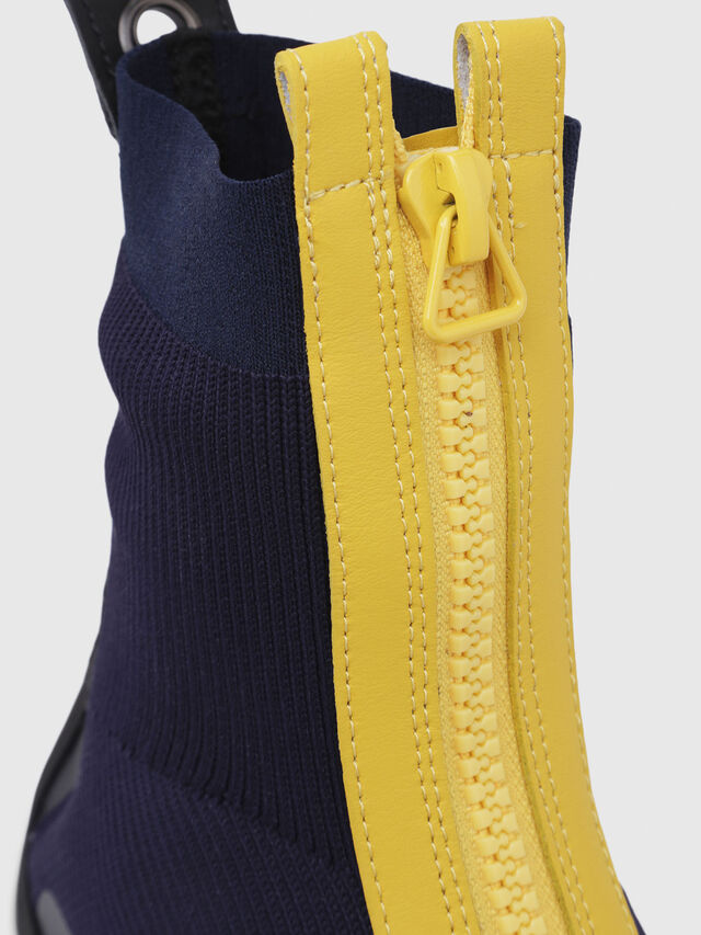 Diesel - H-PADOLA MID ZIP, Blue/Yellow - Sneakers - Image 5