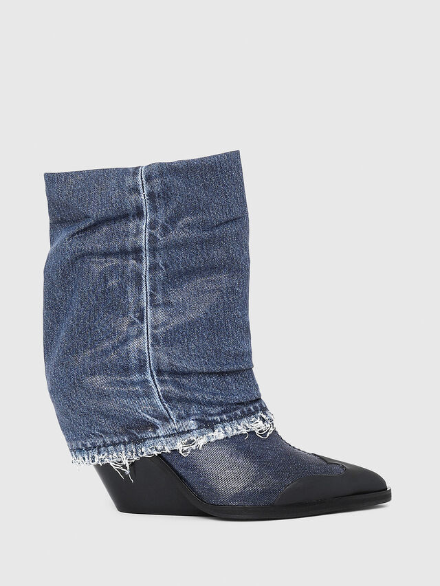 Diesel - D-WEST MB, Blue Jeans - Ankle Boots - Image 1