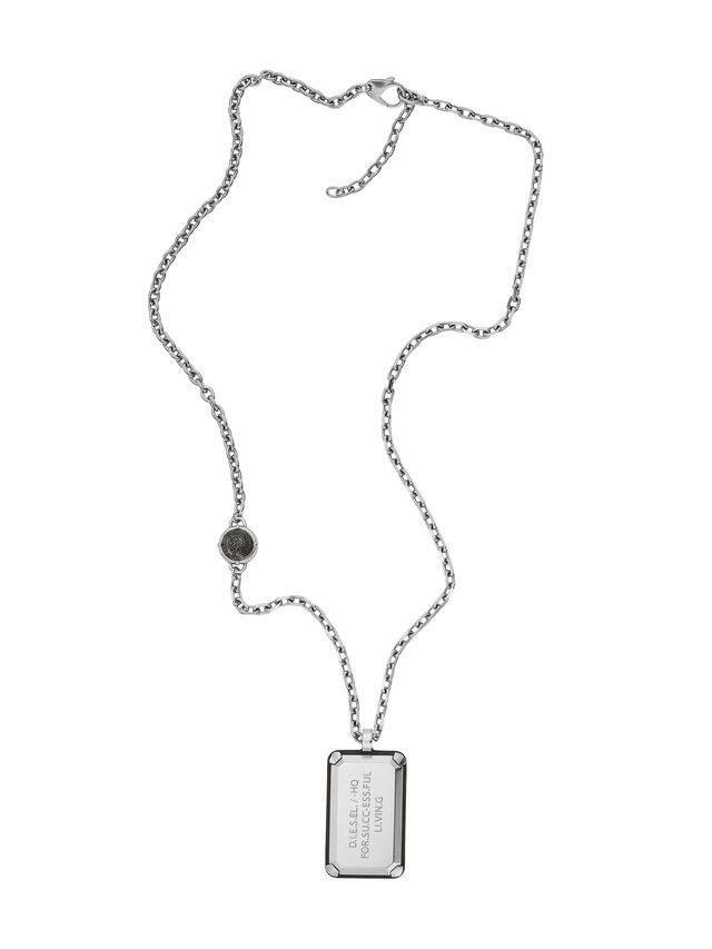 Diesel - NECKLACE DX1019, Silver - Necklaces - Image 1
