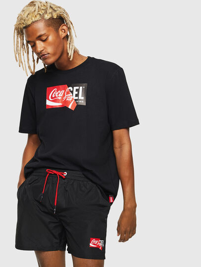 Diesel - CC-WAVE-COLA, Black - Swim shorts - Image 5