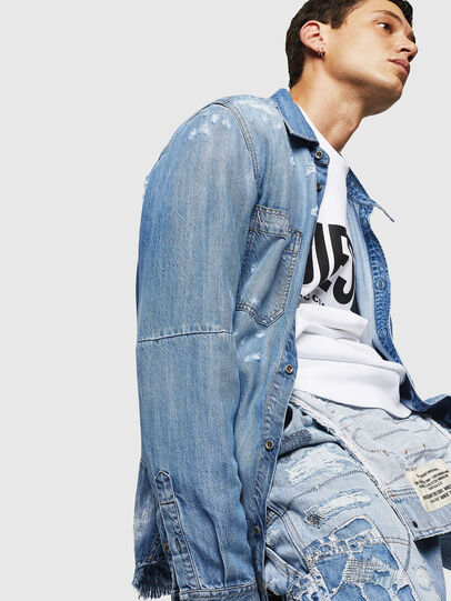 Diesel - D-FRED, Light Blue - Denim Shirts - Image 7