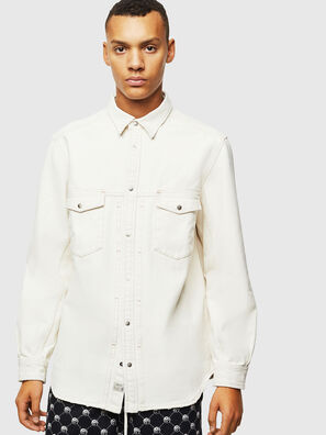 D-BANDY-B, White - Denim Shirts
