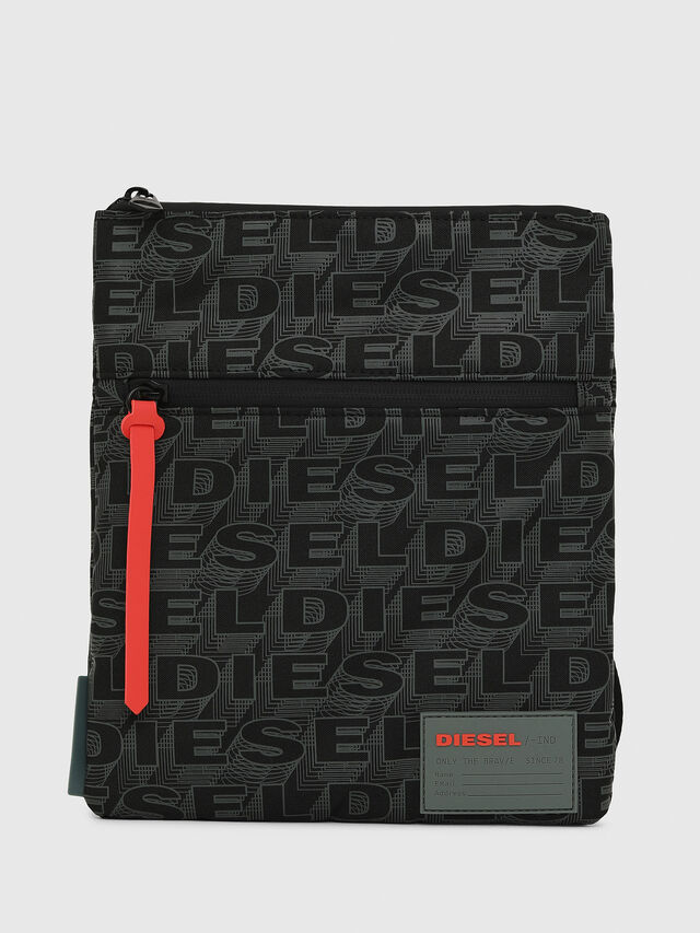 Diesel - F-DISCOVER CROSS, Black/Green - Crossbody Bags - Image 1
