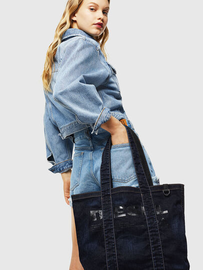 Diesel - F-THISBAG SHOPPER NS, Dark Blue - Shopping and Shoulder Bags - Image 7