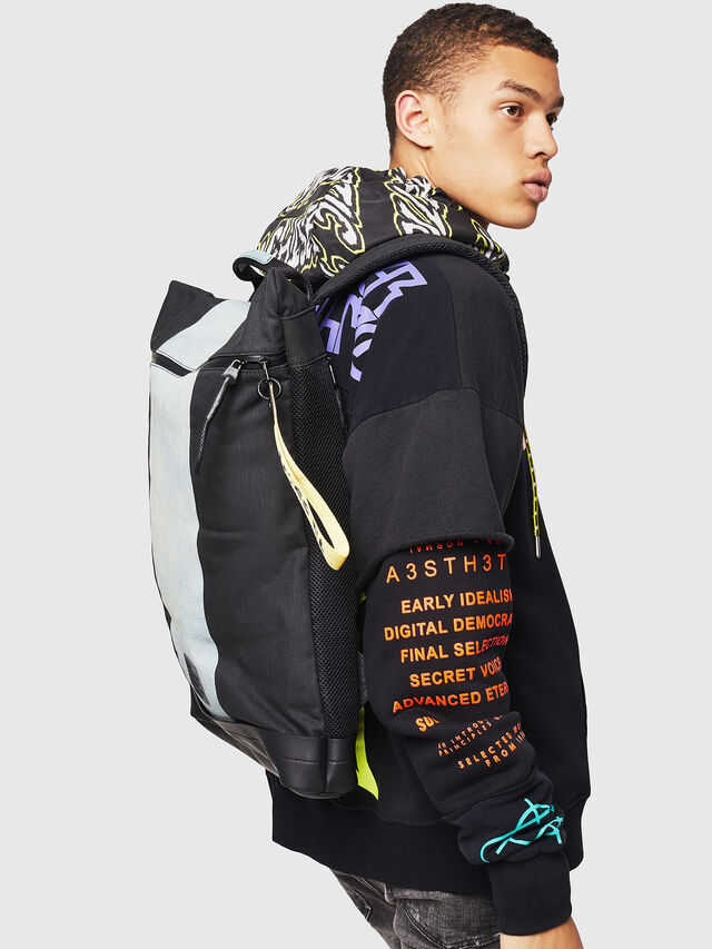 Diesel - L-TOLLE BACK, Blue - Backpacks - Image 6