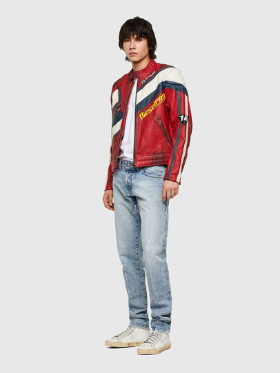 Diesel - L-POWER, White/Red - Leather jackets - Image 5