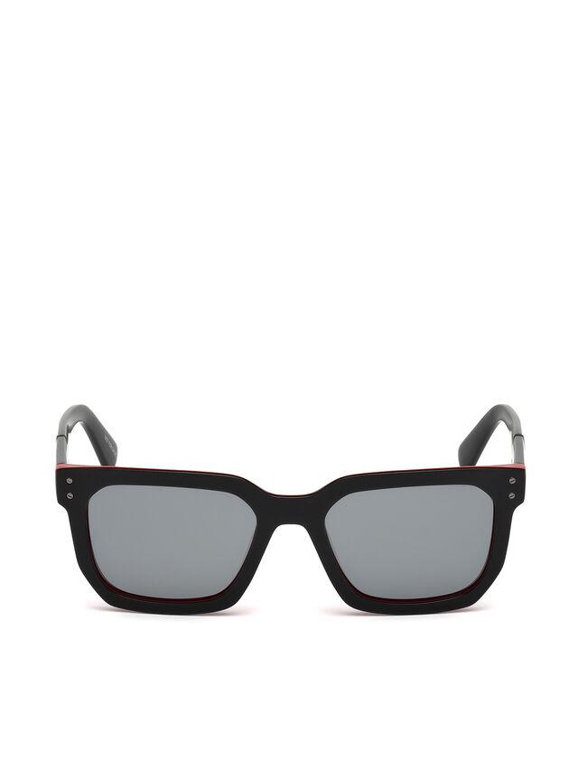 Diesel - DL0253, Black/Red - Eyewear - Image 1