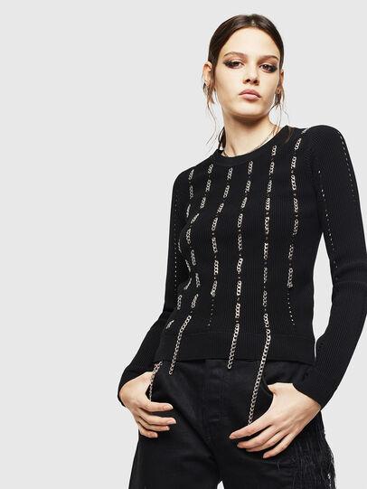 Diesel - M-LYV, Black - Knitwear - Image 1