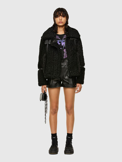 Diesel - L-EYRE, Black - Leather jackets - Image 5