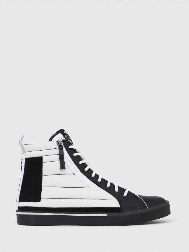 Diesel - D-VELOWS MID PATCH, White/Black - Sneakers - Image 1