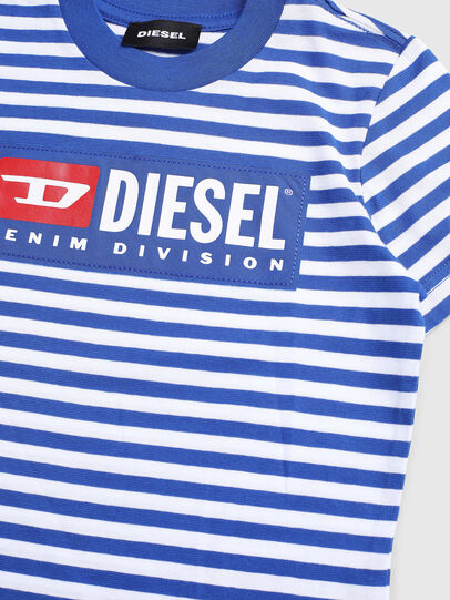 Diesel - TVIKB-R, Blue/White - T-shirts and Tops - Image 3