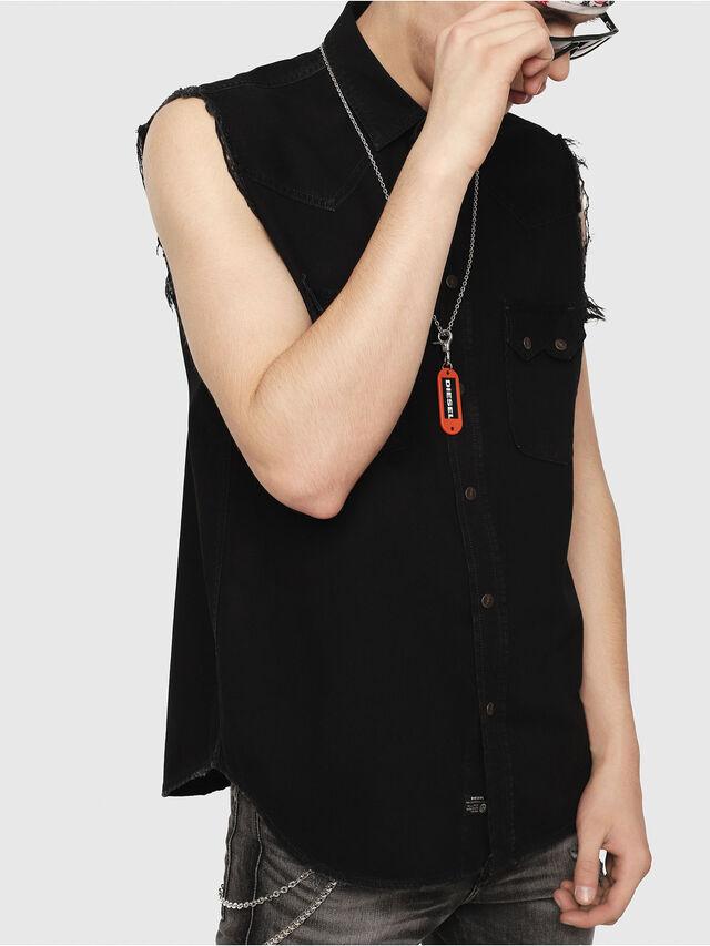 923e34c6c4 D-KIRU Men  Sleeveless Western shirt in denim