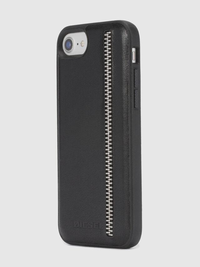 Diesel ZIP BLACK LEATHER IPHONE 8 PLUS/7 PLUS/6s PLUS/6 PLUS CASE, Black - Cases - Image 6