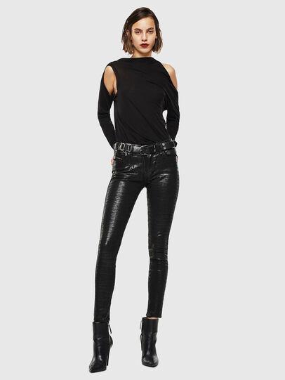 Diesel - Slandy 0094S, Black/Dark grey - Jeans - Image 7