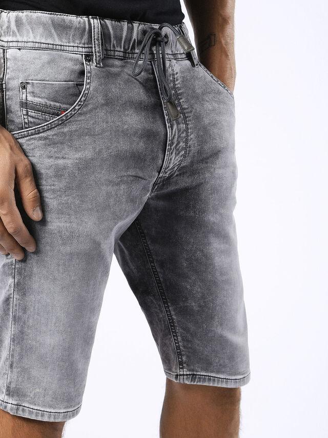Diesel - KROSHORT JOGGJEANS, Grey Jeans - Shorts - Image 7