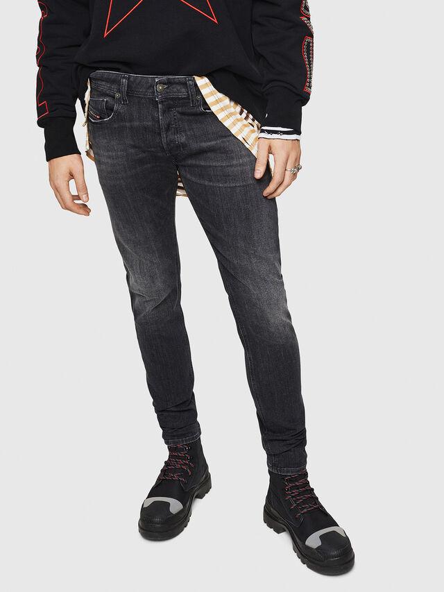 Diesel - Sleenker 084AT, Black/Dark grey - Jeans - Image 1