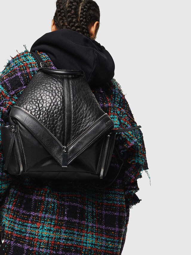 Diesel - LE-MHONIC, Black - Backpacks - Image 6