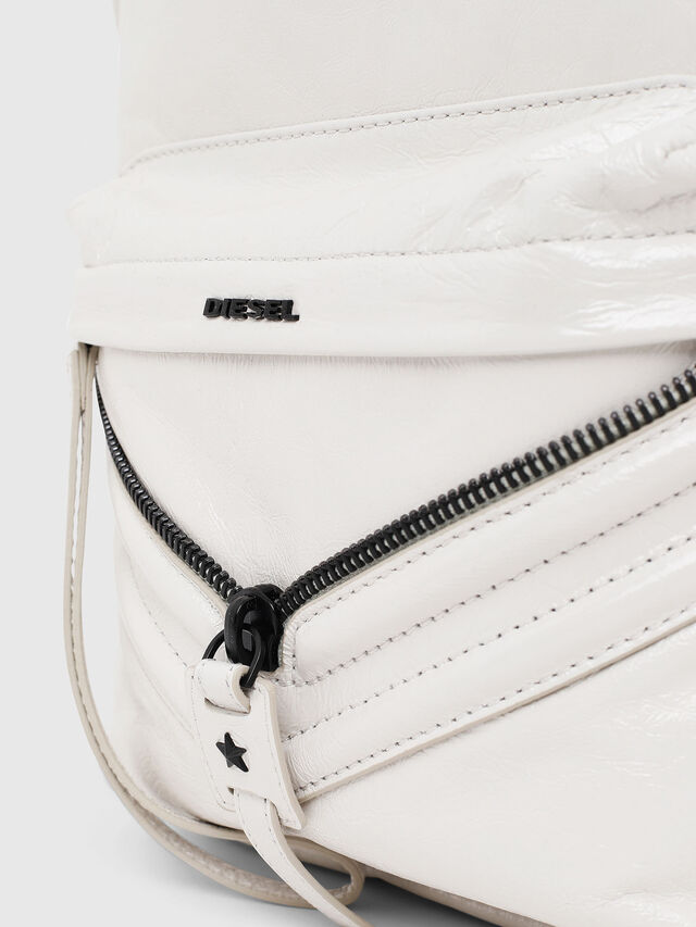Diesel - LE-ZIPPER BACKPACK, White - Backpacks - Image 3