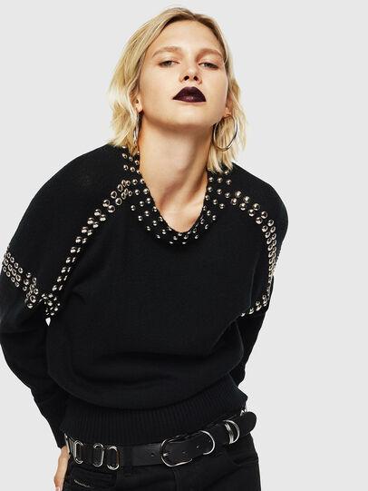 Diesel - M-KRIPX, Black - Knitwear - Image 4