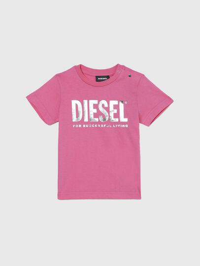Diesel - TJUSTLOGOB-FL MC, Pink - T-shirts and Tops - Image 1