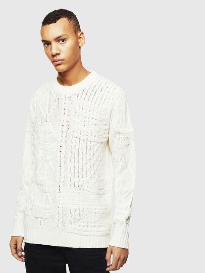 Diesel - K-BRIGLY, White - Knitwear - Image 1