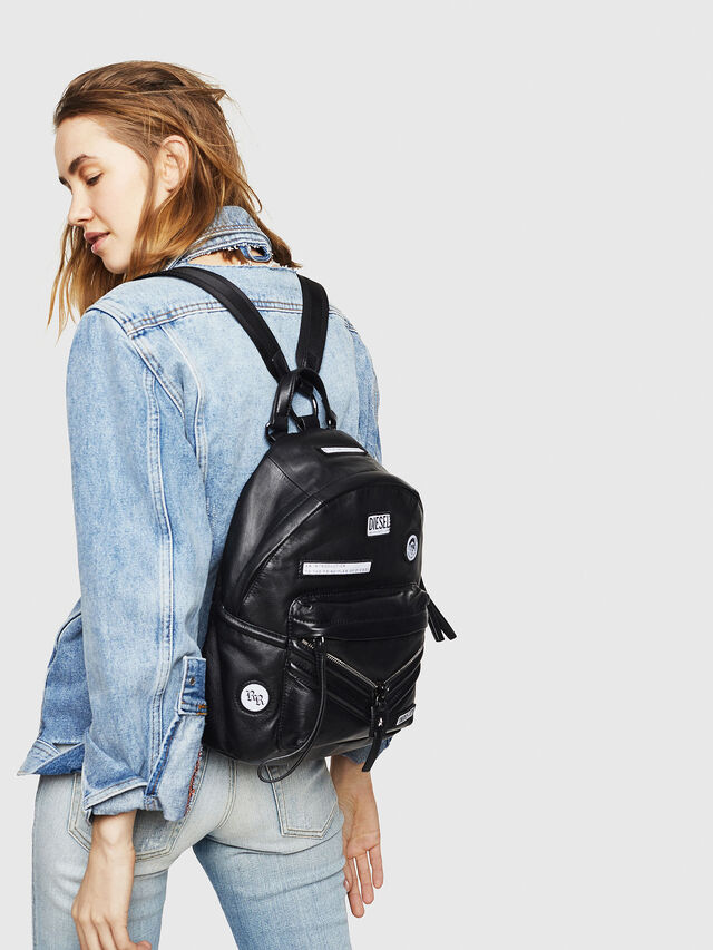 Diesel - LE-ZIPPER BACKPACK, Black - Backpacks - Image 5