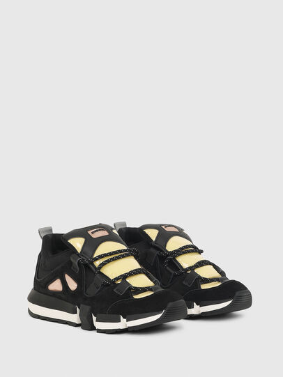 Diesel - H-PADOLA SL W, Black/Yellow - Sneakers - Image 2
