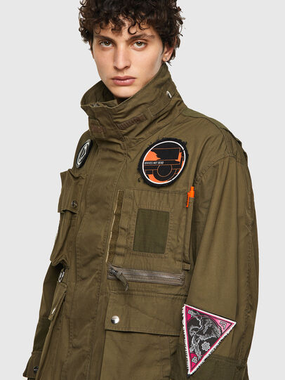 Diesel - J-BATTLE, Military Green - Jackets - Image 4