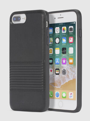 BLACK LINED LEATHER IPHONE 8/7/6s/6 CASE, Black - Cases