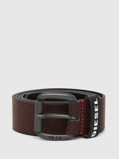 Diesel - B-CAVA, Black/Red - Belts - Image 1