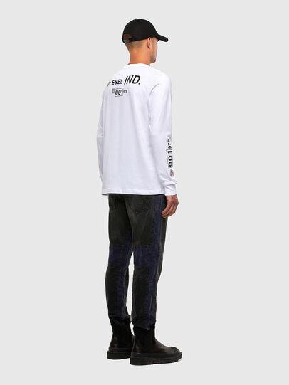 Diesel - T-JUST-LS-N62, White - T-Shirts - Image 5
