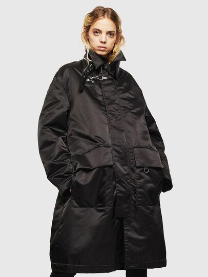 Diesel - W-ADAM, Black - Winter Jackets - Image 2